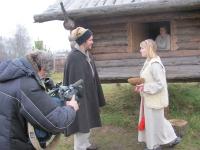 Съемочная группа телеканала  «Рашен Тудей» в Любытино